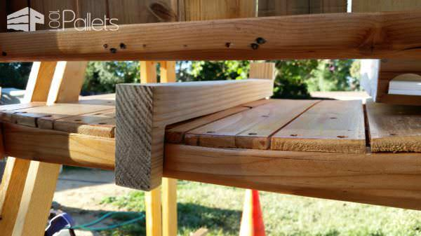 Pallet Rocking Bench With Detachable Cradle Pallet Benches, Pallet Chairs & Stools