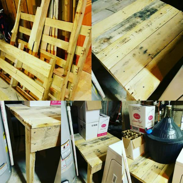 Pallet Wine Fermenting Table Pallet Desks & Pallet Tables