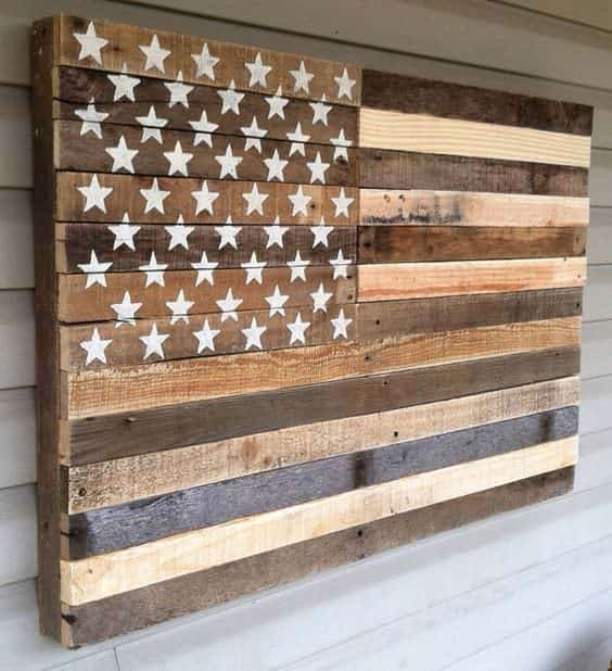 Patriotic crafter challenge pallet ideas 1001 pallets - American flag pallet art ...