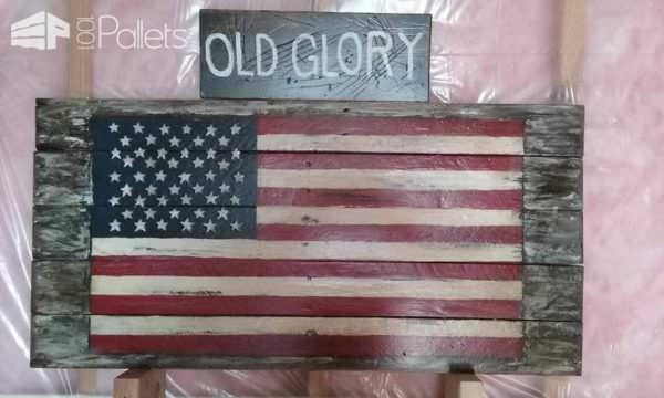 Patriotic Crafter Challenge! Pallet Wall Decor & Pallet Painting