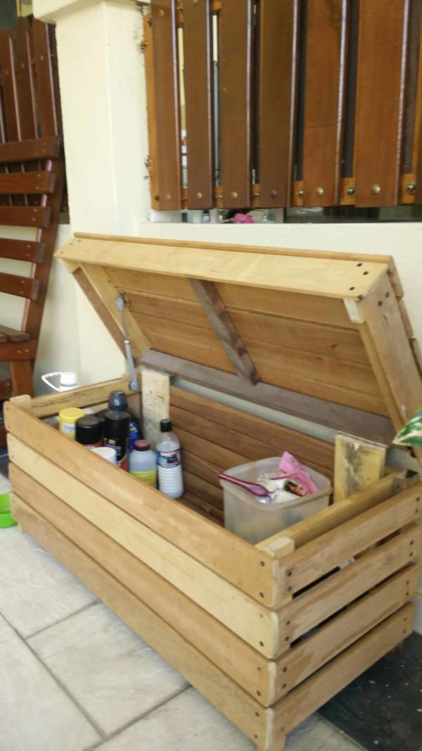 Reclaimed Wood Storage Chest Pallet Boxes & Chests