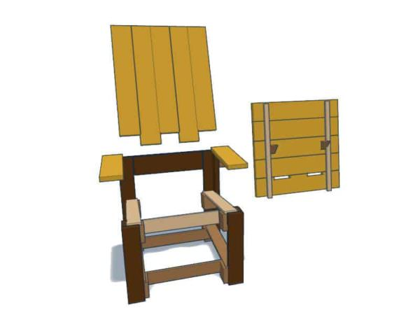 Reclining Pallet Lounge Chair Pallet Benches, Pallet Chairs & Stools