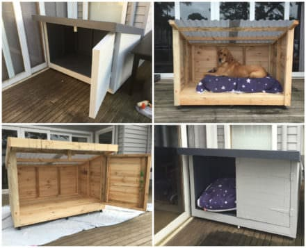 Roomy Pallet Dog Kennel