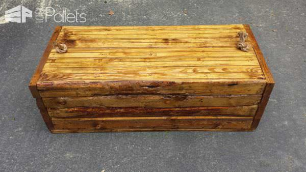 Rustic Pallet Footlocker Pallet Boxes & Pallet Chests