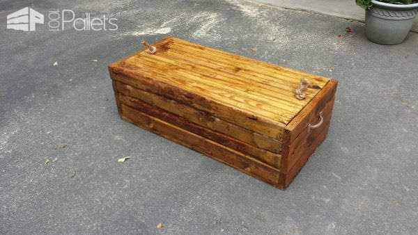 Rustic Pallet Footlocker Pallet Boxes & Chests