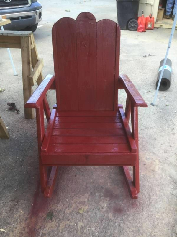 Rustic Pallet Rocker Pallet Benches, Pallet Chairs & Stools