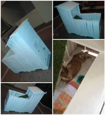 Two-story Pallet Rabbit Hutch