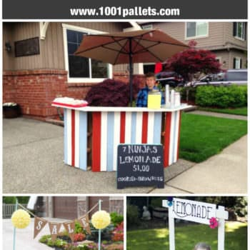 10 Lemonade Stands Made out of Repurposed Pallets