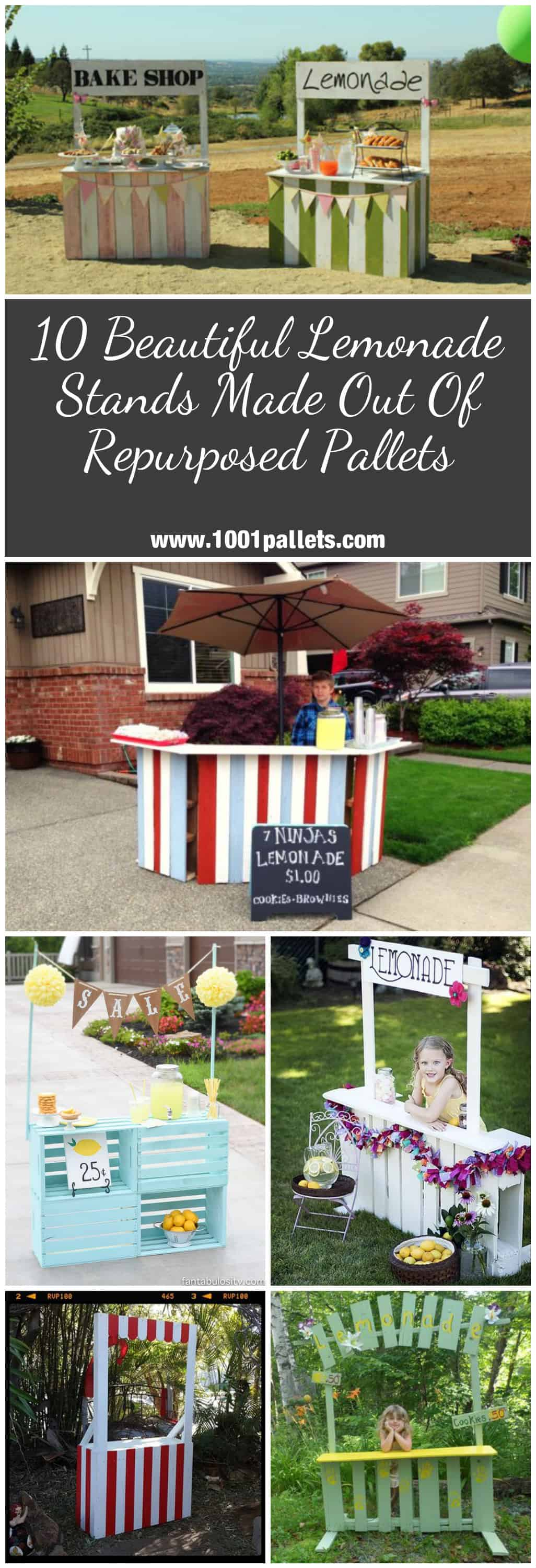 10 Lemonade Stands Made Out Of Repurposed Pallets Pallet
