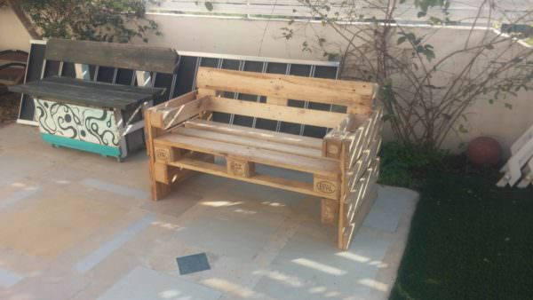 3-pallet Patio Bench Pallet Benches, Pallet Chairs & Stools