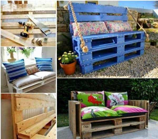 6 Trendy Furniture Ideas Made with Pallet Wood DIY Pallet Furniture