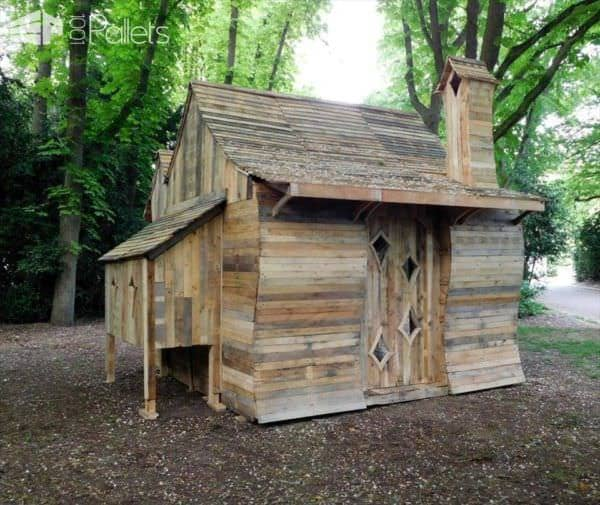 Amazing Pallet Cabin in The Woods Pallet Sheds, Pallet Cabins, Pallet Huts & Pallet Playhouses
