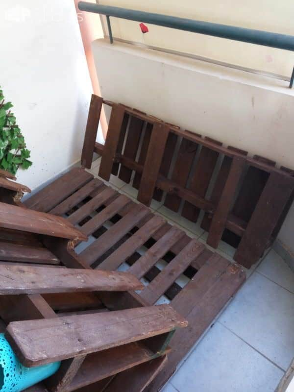 Balcony Pallet Lounge Set Paradise Lounges & Garden Sets Pallet Coffee Tables