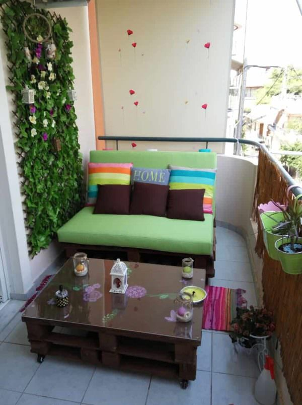 Balcony Pallet Lounge Set Paradise Lounges & Garden SetsPallet Coffee Tables