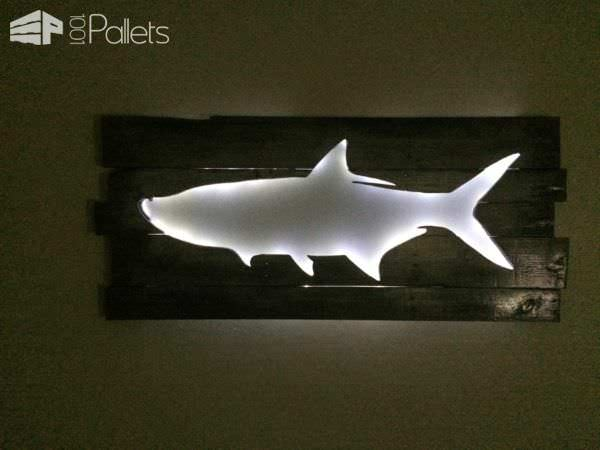 Backlit Pallet Wall Art Pallet Wall Decor & Pallet Painting