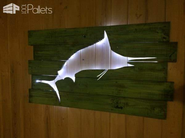 Backlit Pallet Wall Art • 1001 Pallets