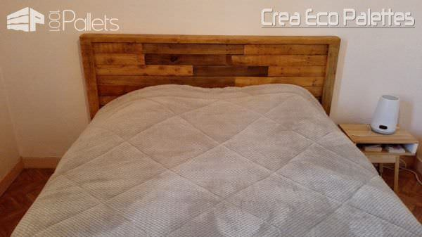 Framed Pallet Headboard / Tête De Lit DIY Pallet bed headboard and frame - Pallet Bedroom