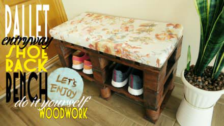 Fun DIY Pallet Bench/Shoe Rack