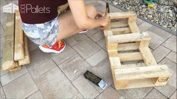 Fun Diy Pallet Bench/Shoe Rack DIY Pallet Video Tutorials Pallet Benches, Pallet Chairs & Stools