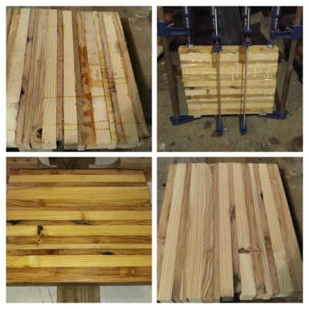 Glued Wood Strip Table/Chopping Block Inspiration