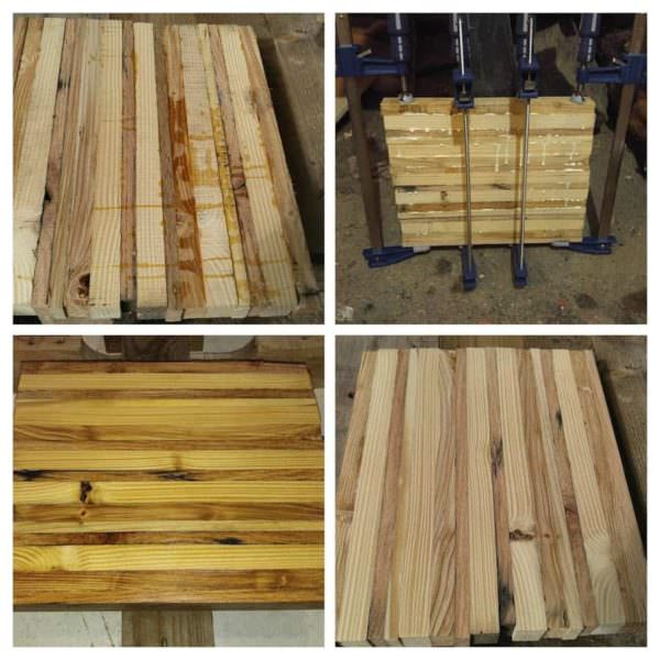 Glued Wood Strip Table/Chopping Block Inspiration Pallet Desks & Pallet Tables Pallet Home Accessories
