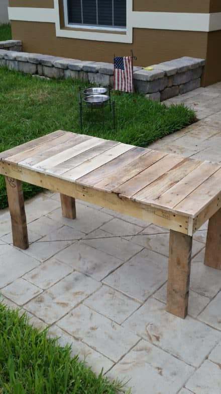 Long End-table From Pallets