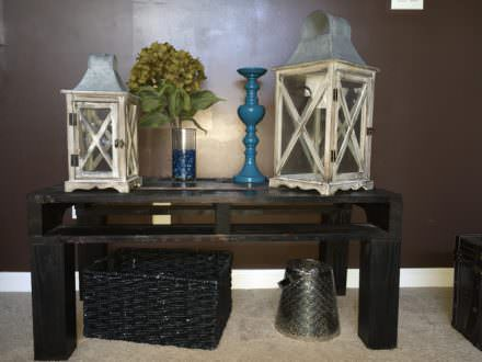 One Pallet Equals Two Side Tables