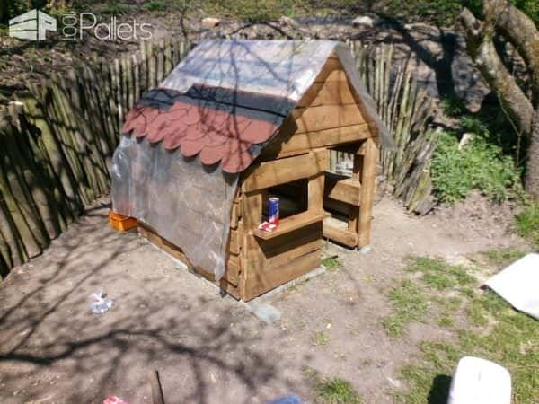 Pallet Children's Playhouse Fun Pallet Crafts for Kids Pallet Sheds, Cabins, Huts & Playhouses
