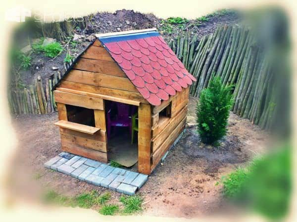 Pallet Children's Playhouse Fun Pallet Crafts for KidsPallet Sheds, Pallet Cabins, Pallet Huts & Pallet Playhouses