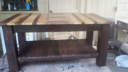 Pallet Coffee Table With Shelf