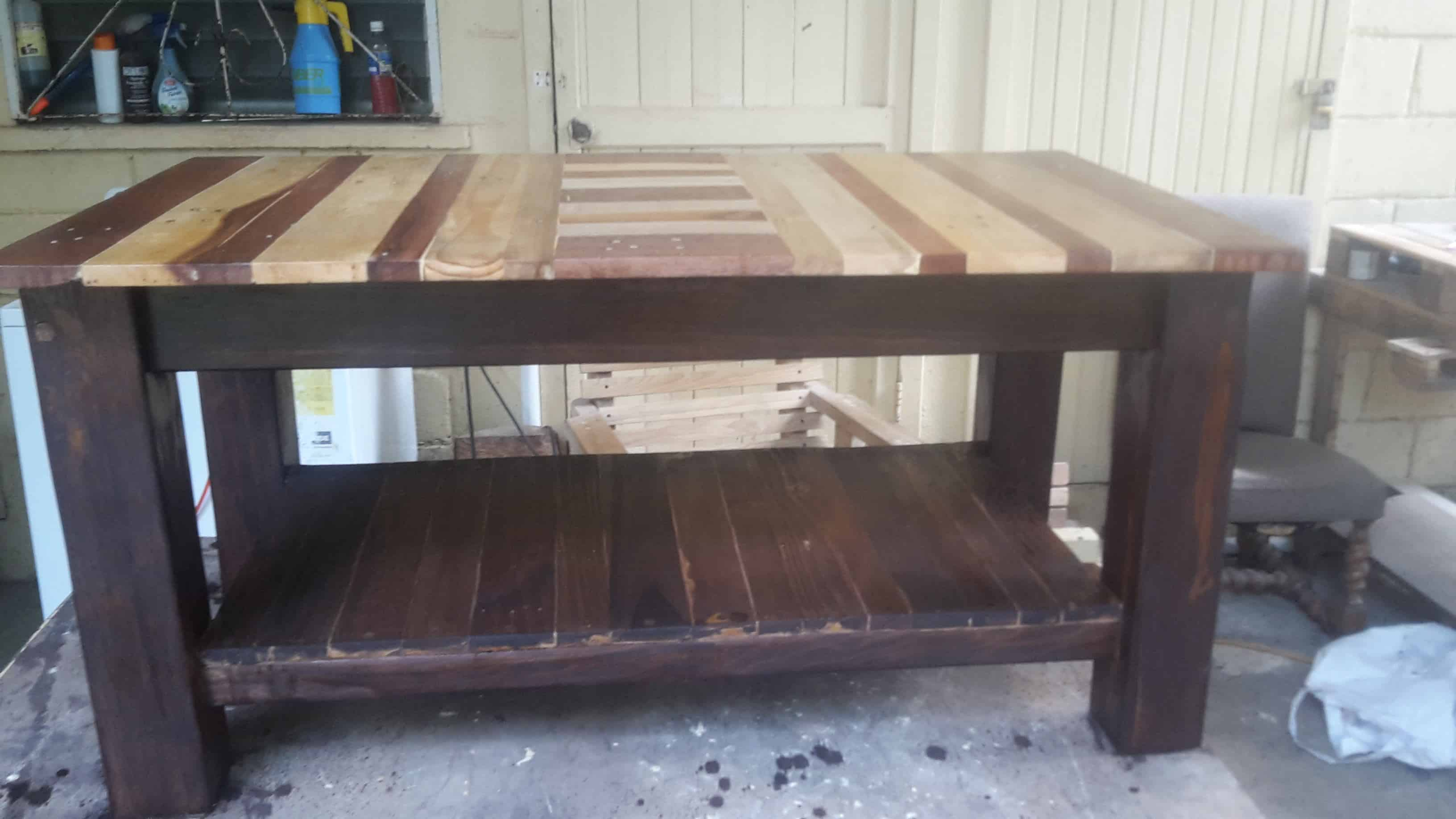 Pallet Coffee Table With Shelf 1001 Pallets