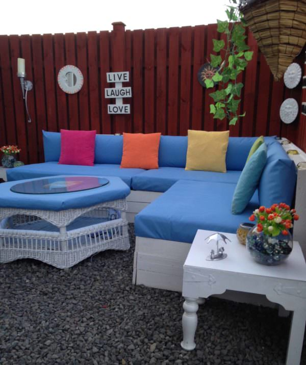 Pallet Corner Garden Lounge Set Lounges & Garden Sets