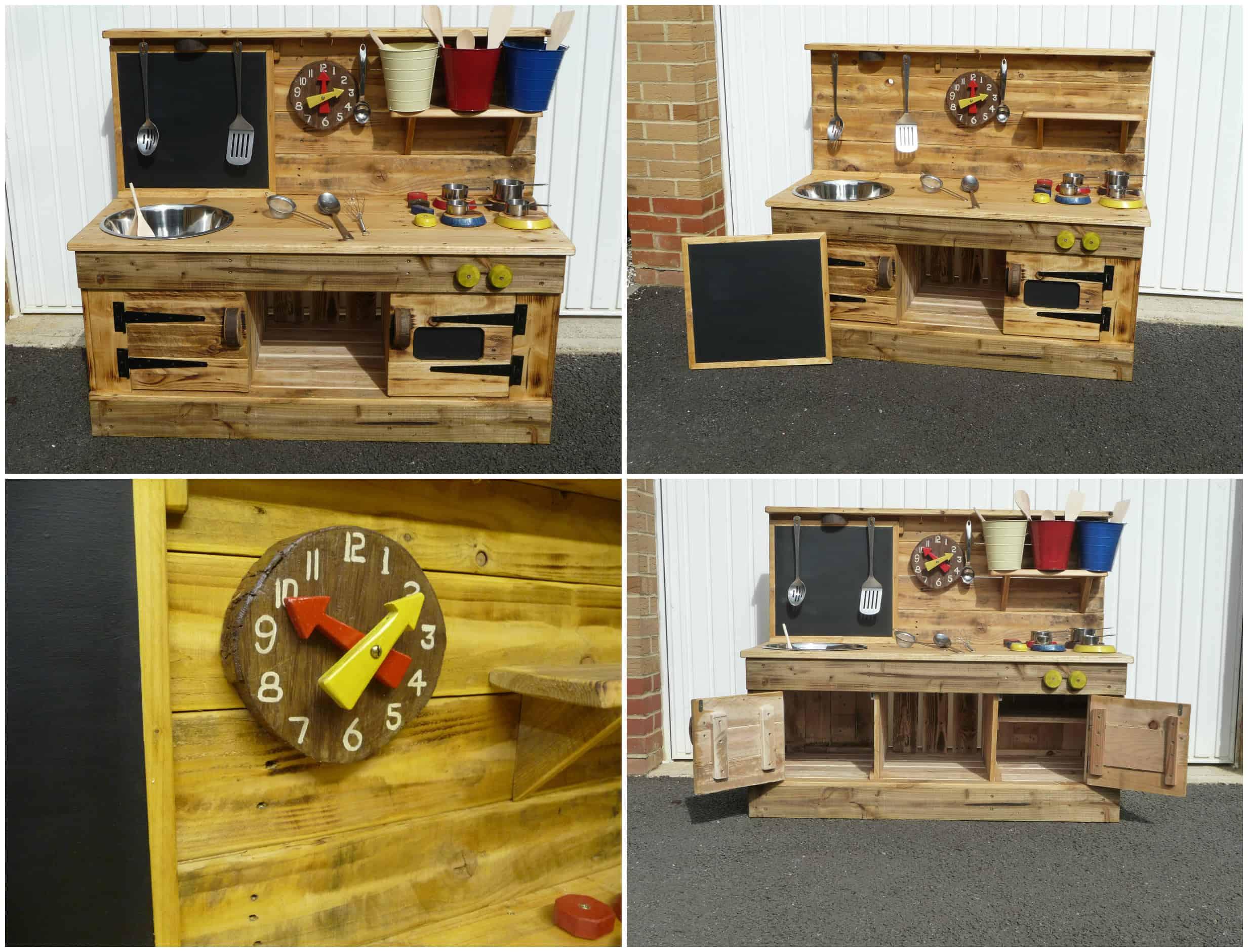 Pallet Educational Play Kitchens • Pallet Ideas • 1001 Pallets