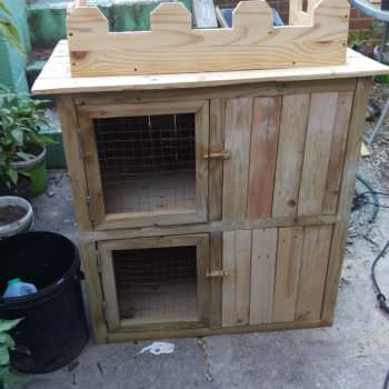 Pallet Rabbit Castle Hutch