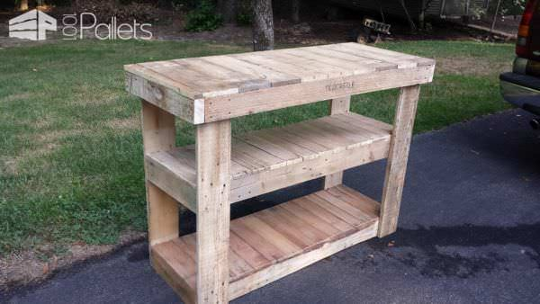 Pallet TV Stand/Entertainment Center Pallet TV Stand & Rack