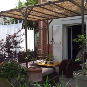 Pergola Addition to Our Pallet Lounge Set