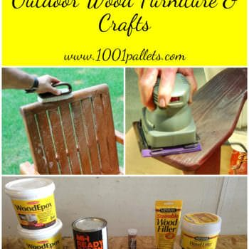 Protecting & Restoring Outdoor Wood Furniture & Crafts