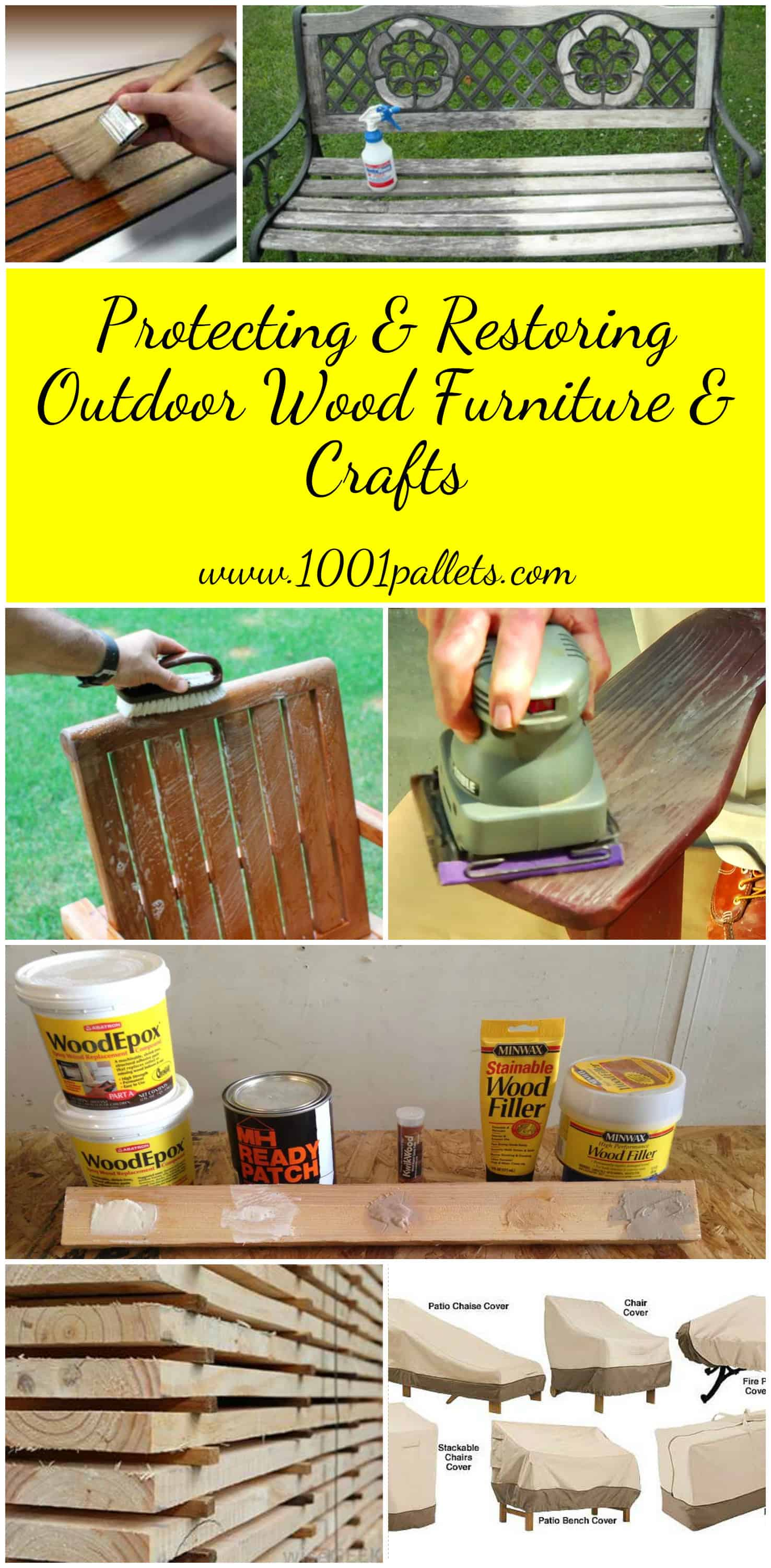 - Protecting & Restoring Outdoor Wood Furniture & Crafts • 1001 Pallets