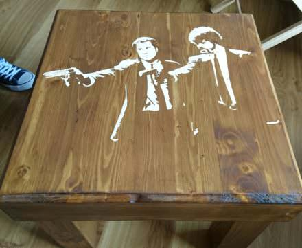 Pulp Fiction Pallet Table