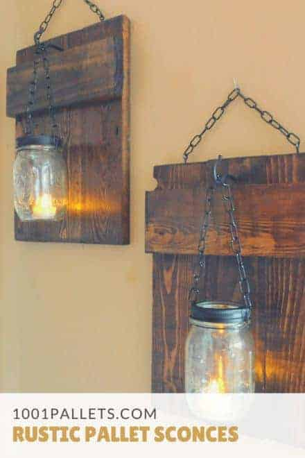 Rustic Pallet Sconces