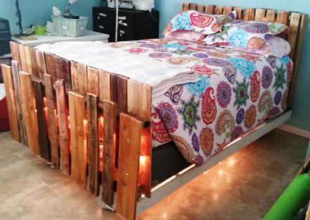 Underlit Pallet Bed You Have To See!
