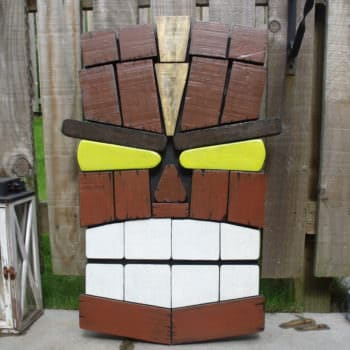 Unique Tiki Pallet Wall Art From Remnants