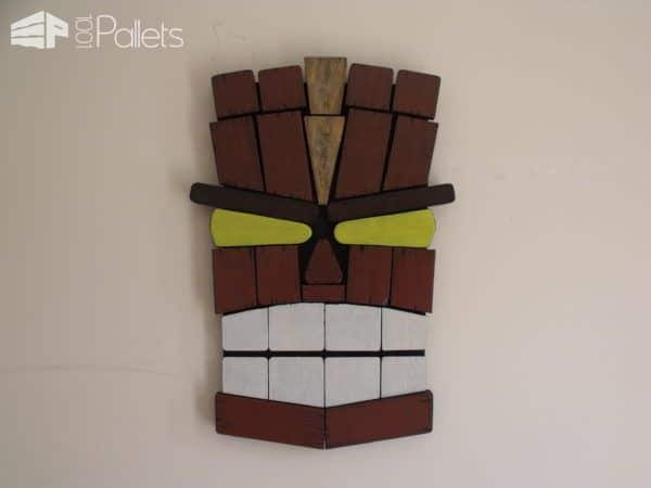 Unique Tiki Pallet Wall Art From Remnants Pallet Wall Decor & Pallet Painting