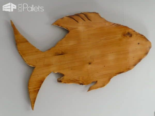 Wall Art Wood Fish : Wall art pallet wood fish ideas pallets