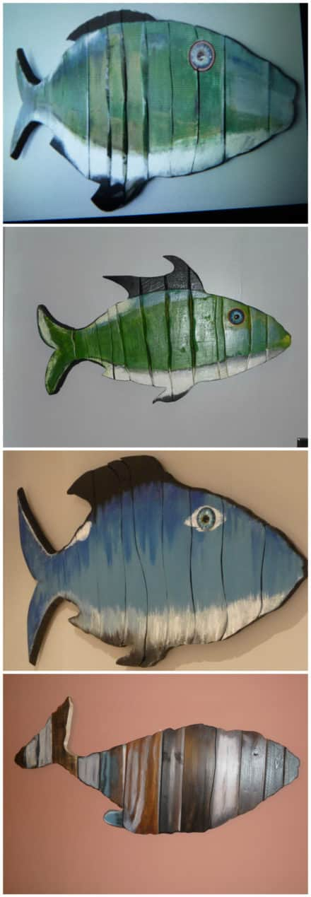 Wall Art Pallet Wood Fish