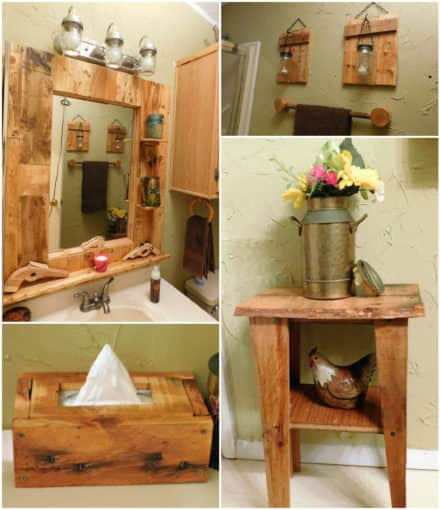 Wow - Pallet Bathroom Makeover!