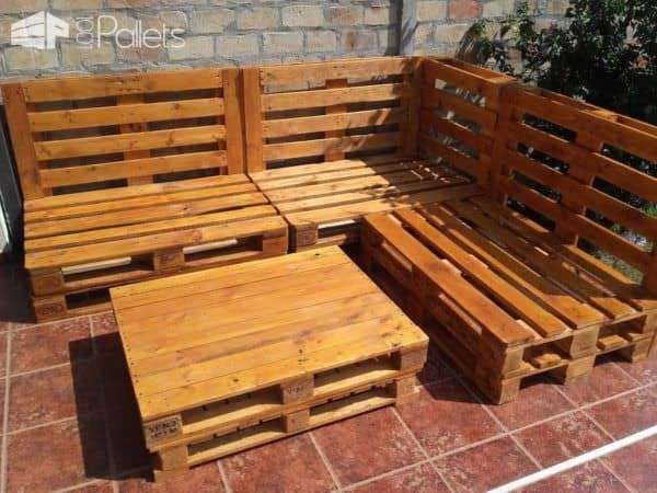 Euro-Pallet Patio Lounge Set 3