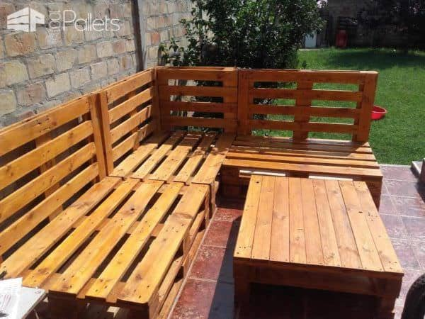 Euro-Pallet Patio Lounge Set 4