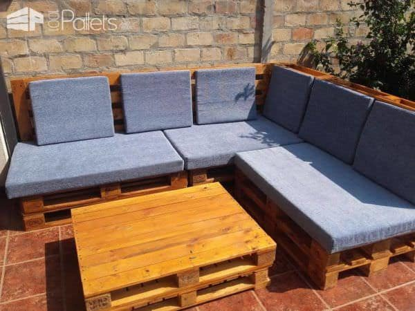 Euro-Pallet Patio Lounge Set 2