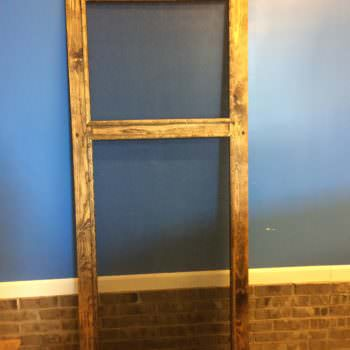 Decorative-trimmed DIY Pallet Screen Door